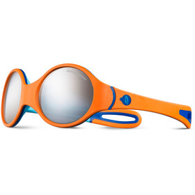 Julbo Loop Spectron 4 Lunettes de soleil 2-4 ans Enfant, orange/sky blue/blue-gray flash silver